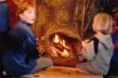 Robin, Okke et Jordi devant le feu