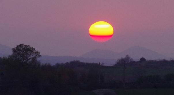 zonsondergang 17 maart 2017